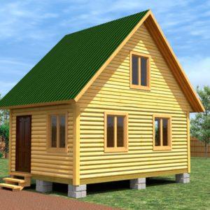 Каркасный дом 6 м на 6 м